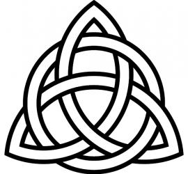 Triquetra-circle-interlaced