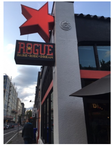 Red star sign for Rogue brewery