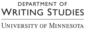 Logo for Department of Writing Studies University of Minnesota
