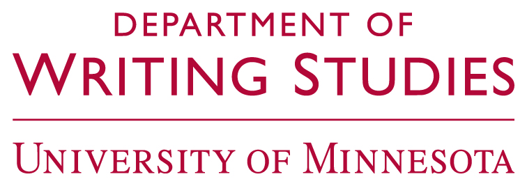 logo for University of Minnesota Department of Writing Studies