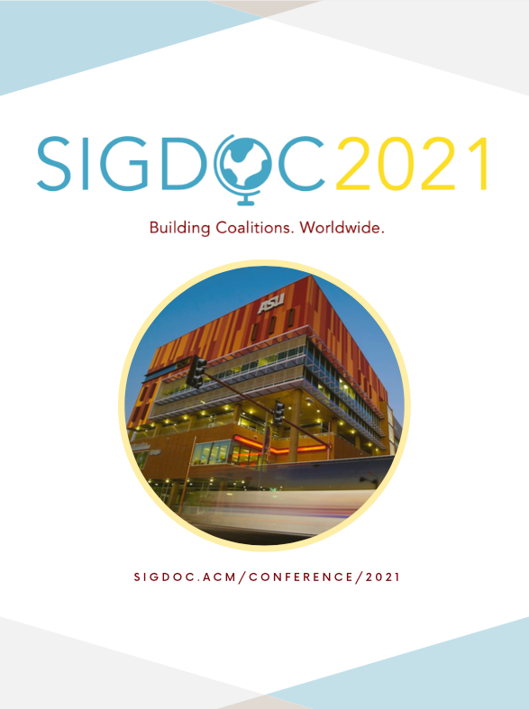 Cover of SIGDOC 2021 Program