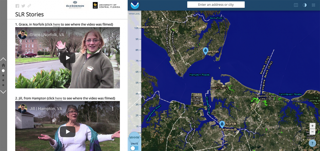 Screenshot showing the participant videos from Hampton Roads.
